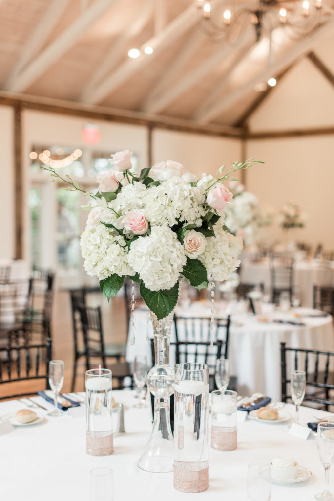 Tall reception arrangement